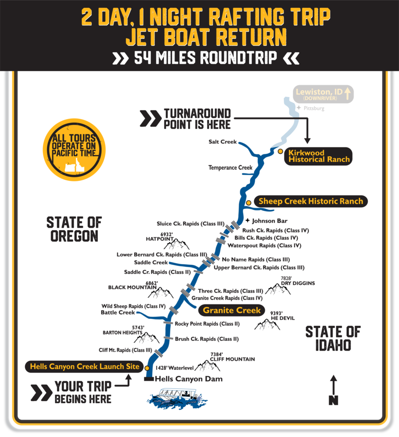 2 Day, 1 Night Rafting Trip, Jet Boat Return